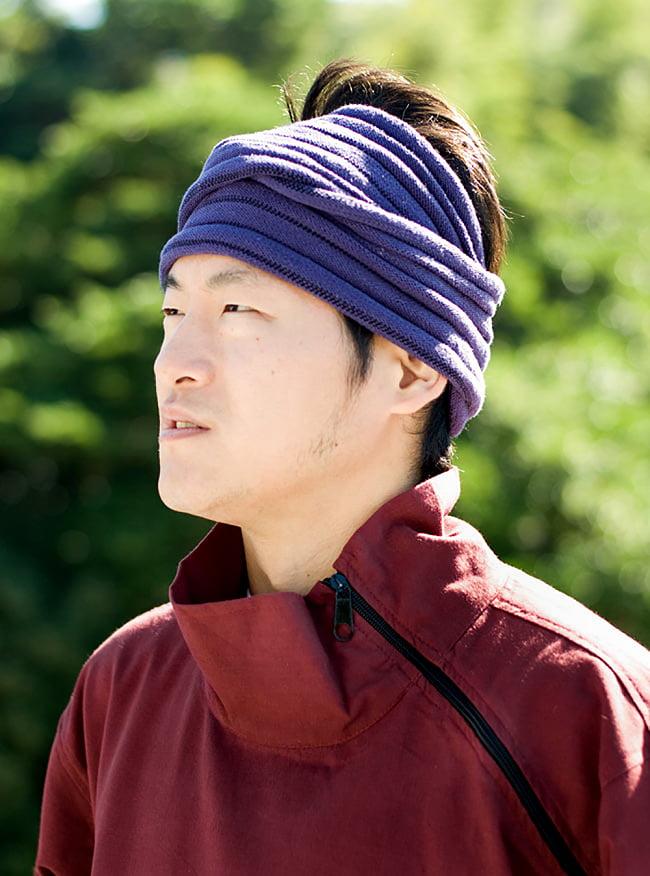 チベタン・ジャケット − えんじの写真4 - 胸元をアップにしてみました。ジップでしめるとこんな感じでスッキリした印象です。