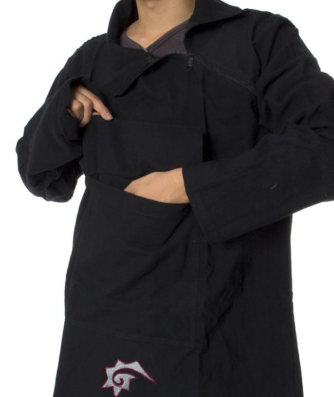 チベタン・ジャケット − えんじの写真6 - ポケットは大きくて便利ですよ!