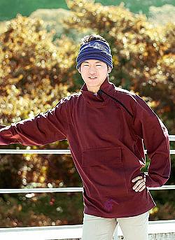 チベタン・ジャケット − えんじ