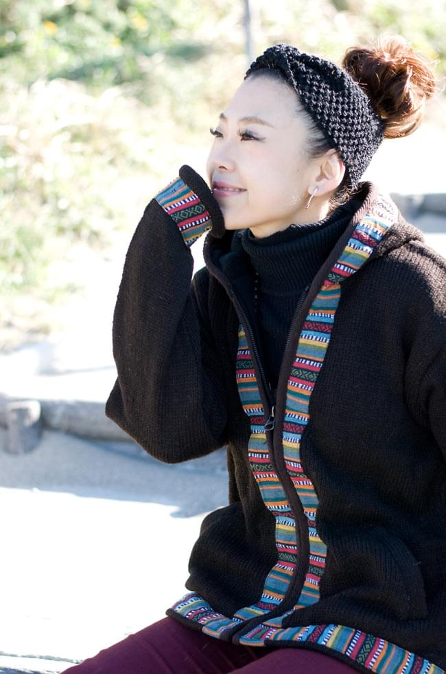 ネパールのゲリラインウールジャケットの写真