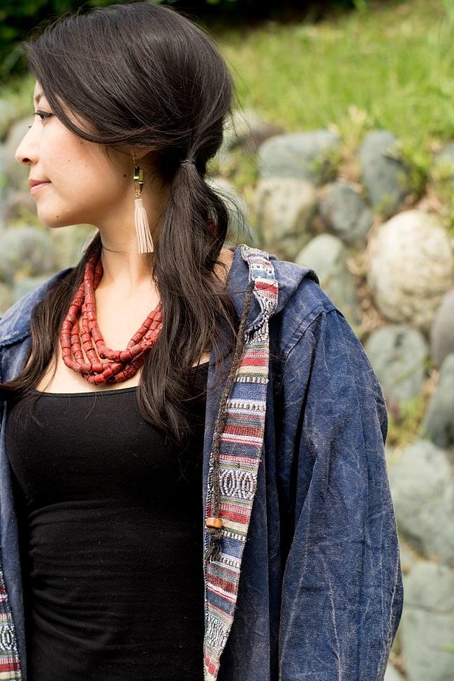ネパールゲリとストーンウォッシュのロングコート 9 - さっと羽織れる便利な一枚です。
