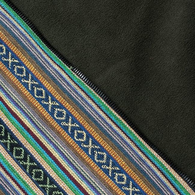 ネパール伝統布のインナーフリースジャケット 11 - A:グリーン系(インナーフリースも緑)