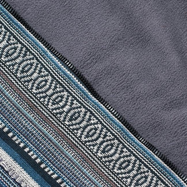 ネパール伝統布のインナーフリースジャケット 15 - E:グレー系(インナーフリースも灰色)