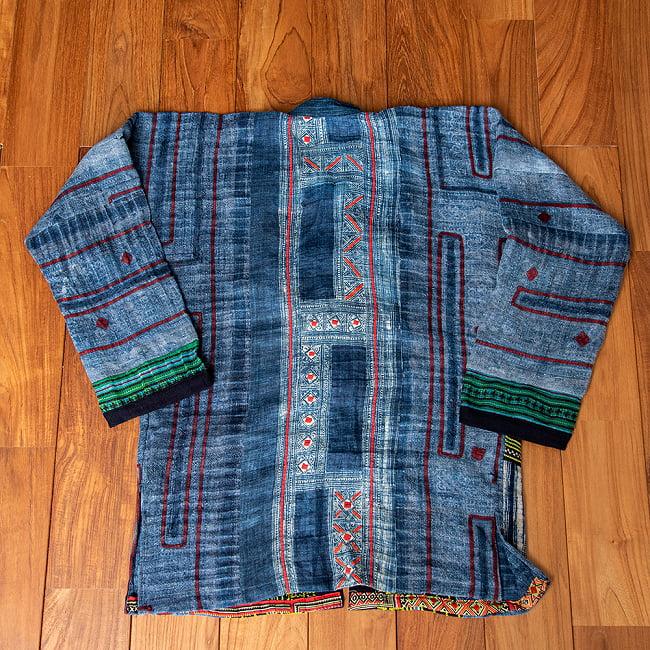 【一点物】黒モン族の藍染刺繍ジャケット 12 - ジャケットの背面です