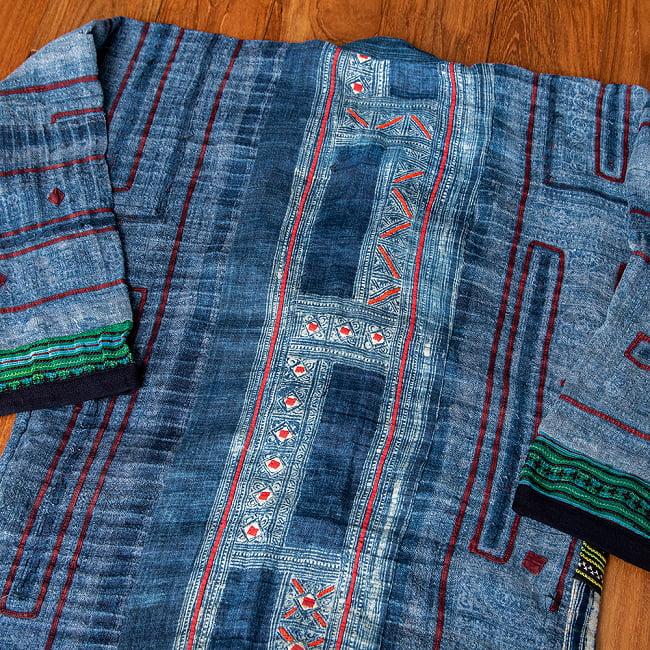 【一点物】黒モン族の藍染刺繍ジャケット 13 - 拡大写真です