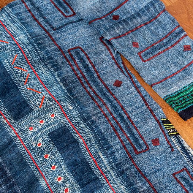 【一点物】黒モン族の藍染刺繍ジャケット 14 - 刺繍が素敵です