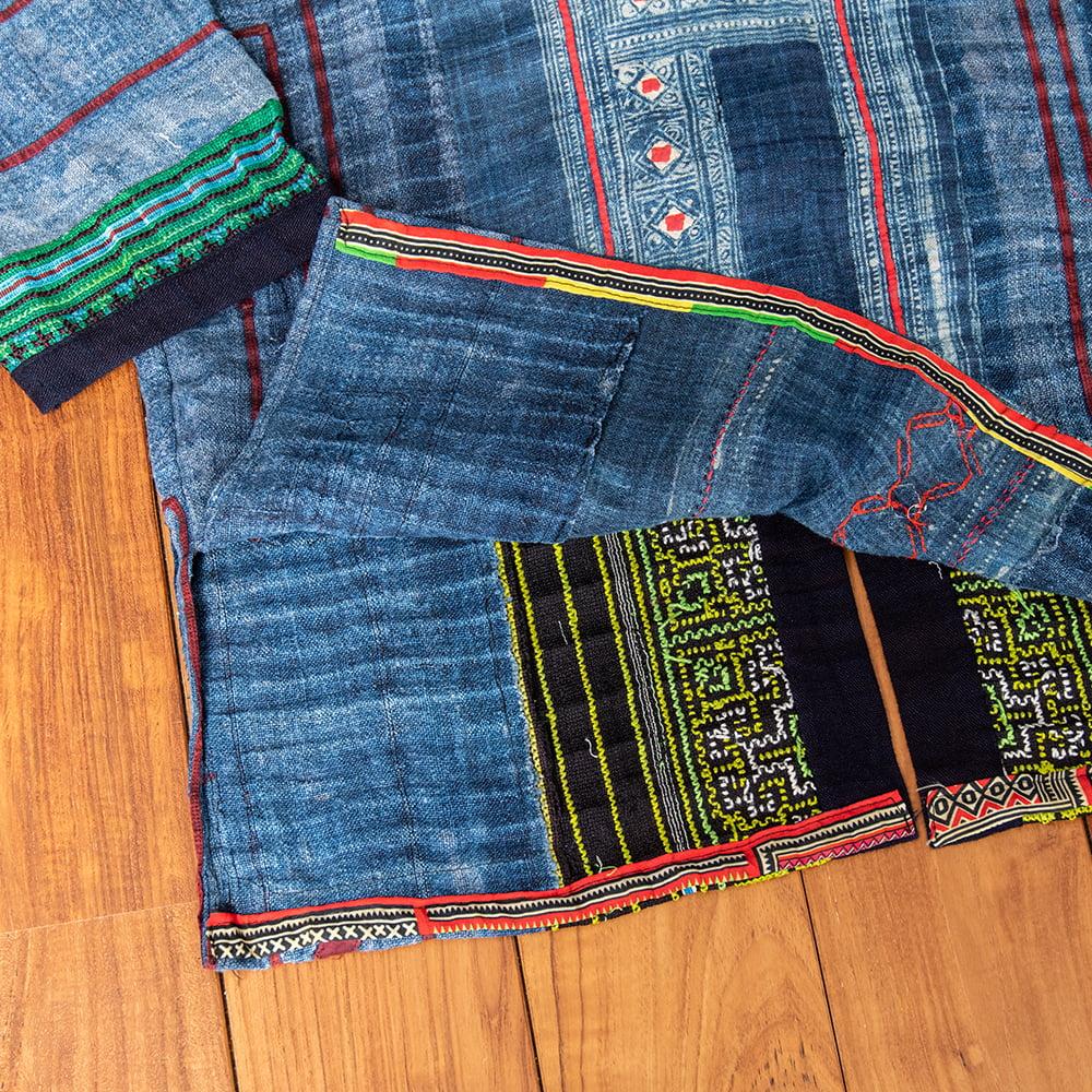 【一点物】黒モン族の藍染刺繍ジャケット 15 - 拡大写真です