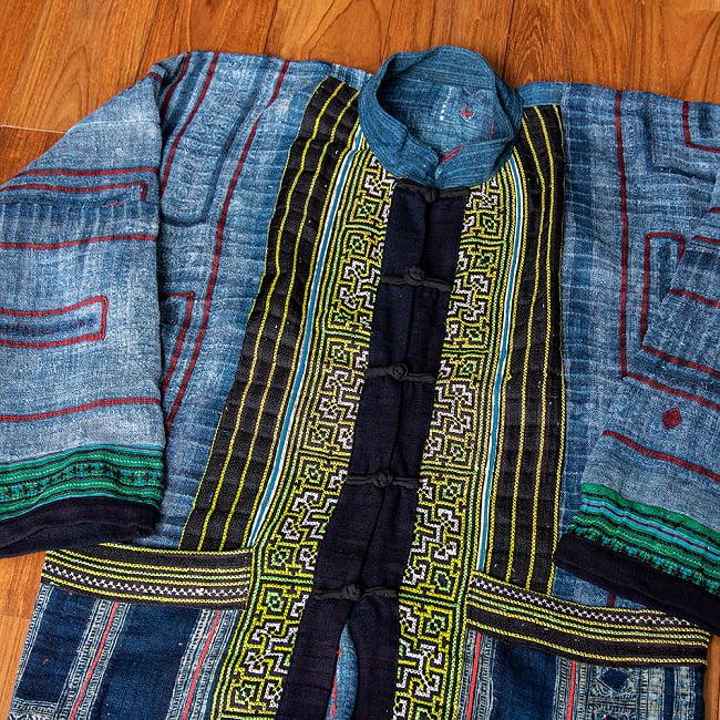 【一点物】黒モン族の藍染刺繍ジャケット 3 - 拡大写真です
