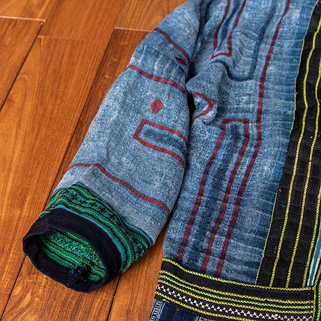 【一点物】黒モン族の藍染刺繍ジャケット 5 - 別の角度から