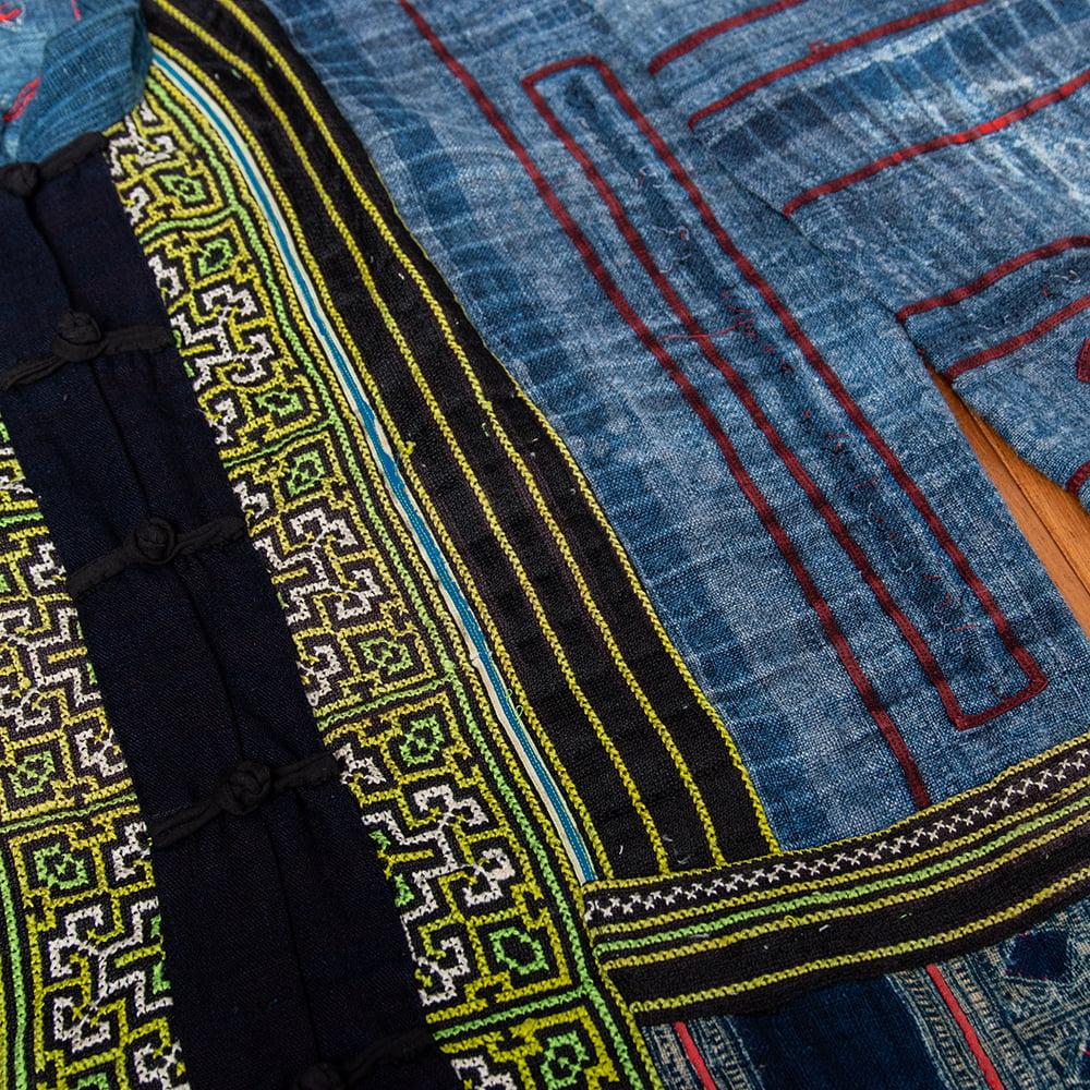 【一点物】黒モン族の藍染刺繍ジャケット 6 - 拡大写真です