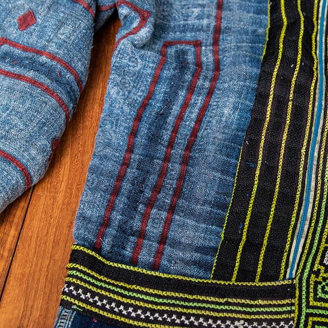 【一点物】黒モン族の藍染刺繍ジャケット 7 - 手作りならではの風合いです