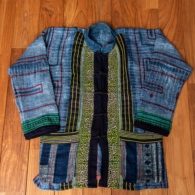 【一点物】黒モン族の藍染刺繍ジャケット 1