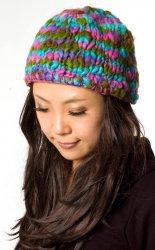 【アソート】暖かくて気持ち良い!もこもこニット帽-フリース付き パステルミックス