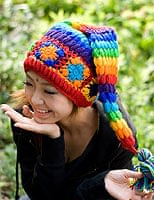 カラフルおもしろニット帽
