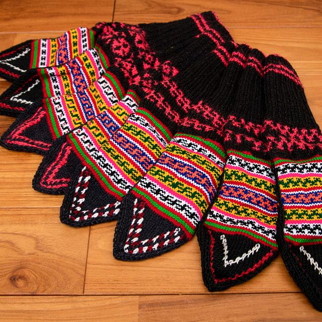 マナリの靴下 - カラフルアクリル 13 - 選択2:ブラウン