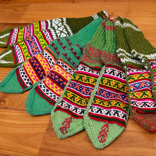 マナリの靴下 - カラフルアクリル 16 - 選択5:プラム
