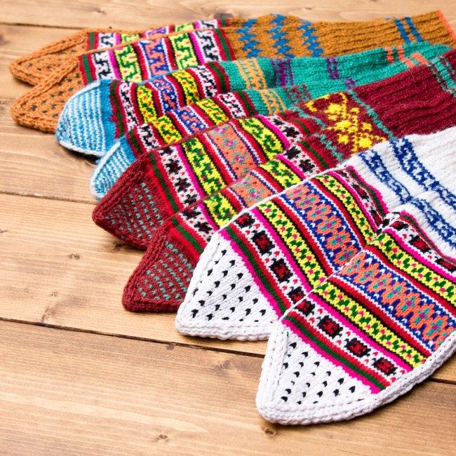 マナリの靴下 - カラフルアクリル 7 - 他にも柄がございます。