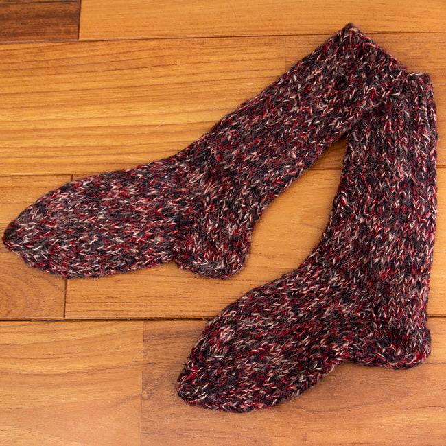 足元を優しく彩る マナリの靴下 - MIX 7 - 選択1:レッド