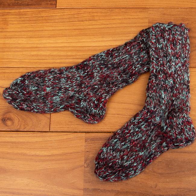 足元を優しく彩る マナリの靴下 - MIX 8 - 選択2:グリーン