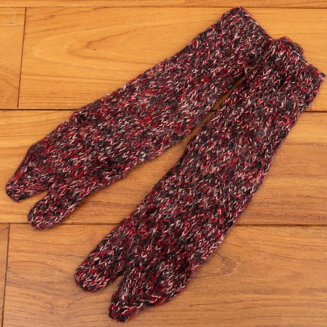 足元を優しく彩る マナリの靴下 - MIX 9 - 選択3:足袋レッド