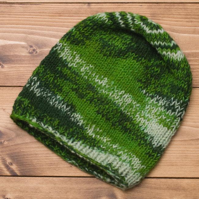 ウールニット帽 【グリーン】 3 - 全体像です。