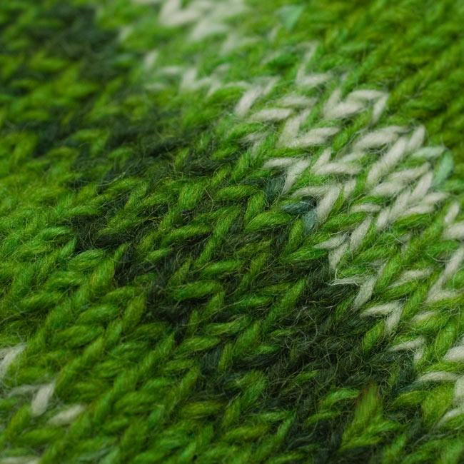 ウールニット帽 【グリーン】 4 - 素材がわかるよう、アップにしてみました。