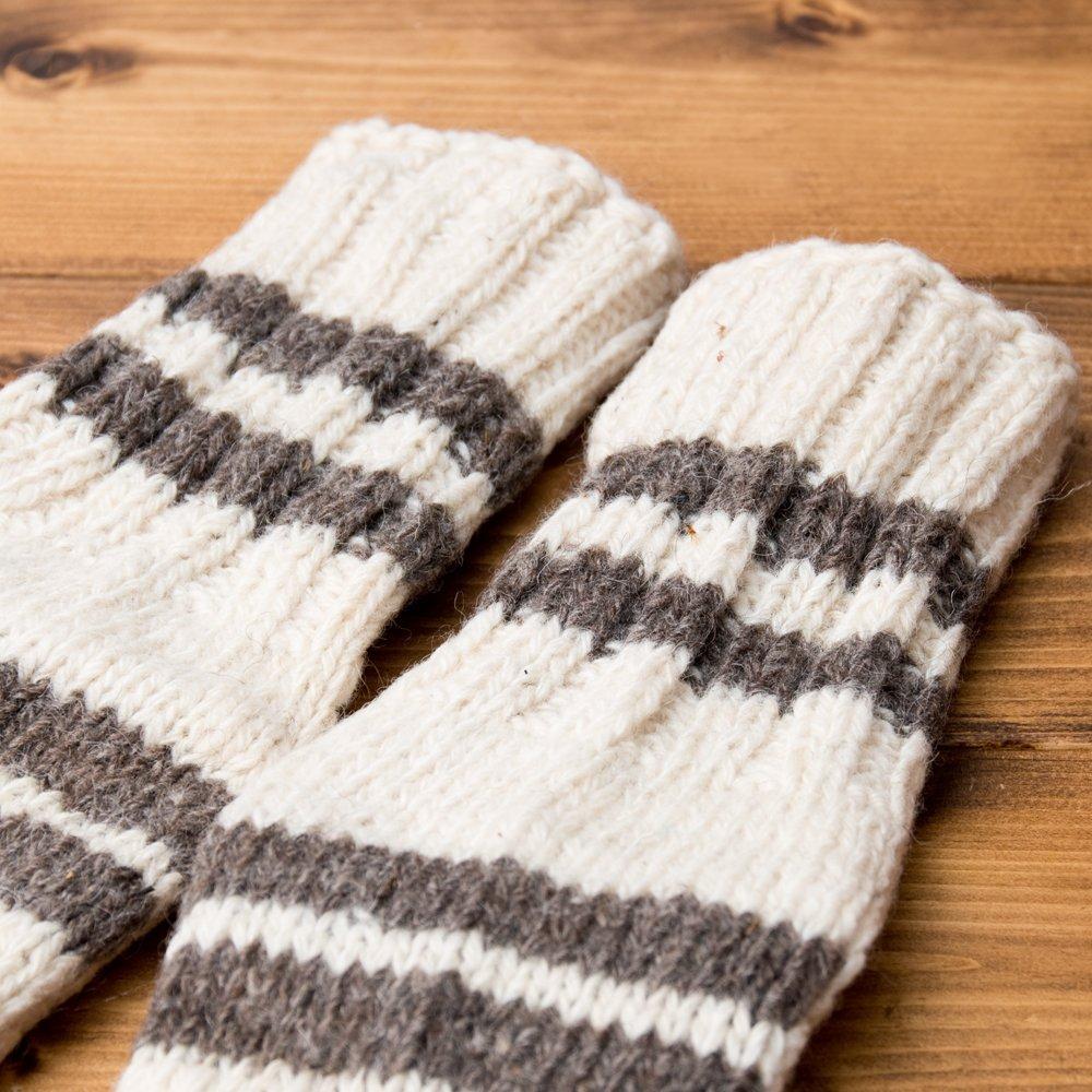 マナリの靴下 - シンプルウール 6 - 柄部分をアップにしてみました。
