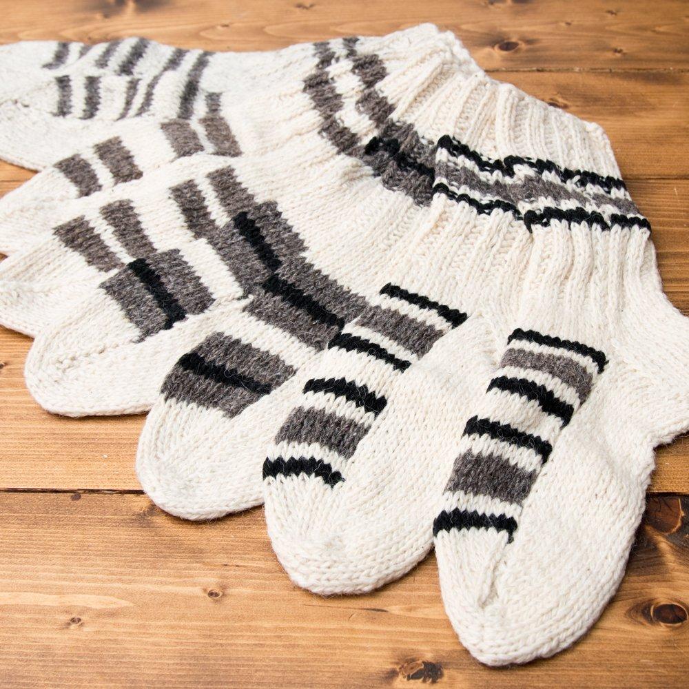 マナリの靴下 - シンプルウール 7 - 他にも柄がございます。