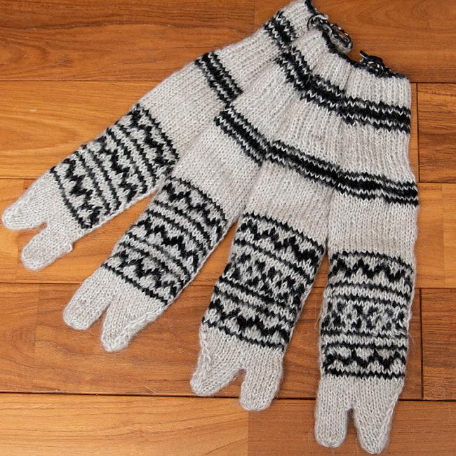 足元を優しく彩る マナリの靴下 - シンプル足袋 4 - 1:アイボリー