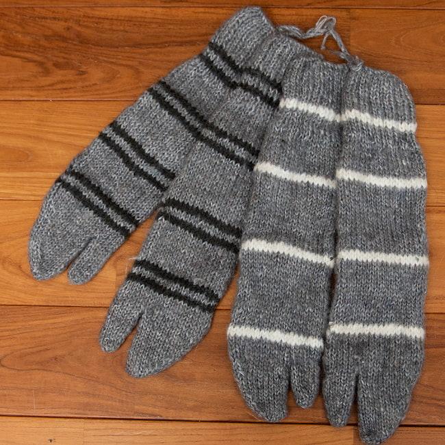 足元を優しく彩る マナリの靴下 - シンプル足袋 5 - 2:グレー