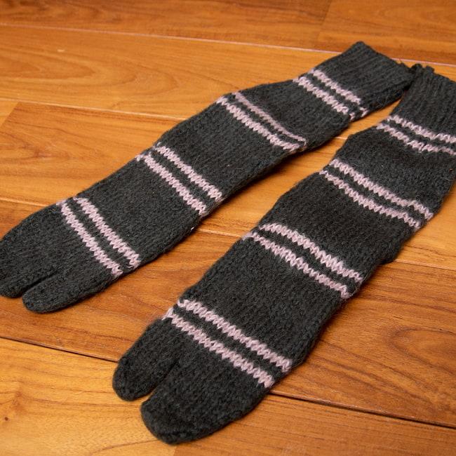 足元を優しく彩る マナリの靴下 - シンプル足袋 6 - 3:チャコール