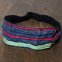 【1点限り!】モン族の手作りカラフル刺繍ヘアバンド