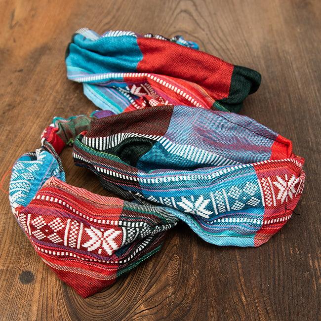 ターイ族の手作りカラフルヘアバンド【1点アソート】 10 - デザイン2