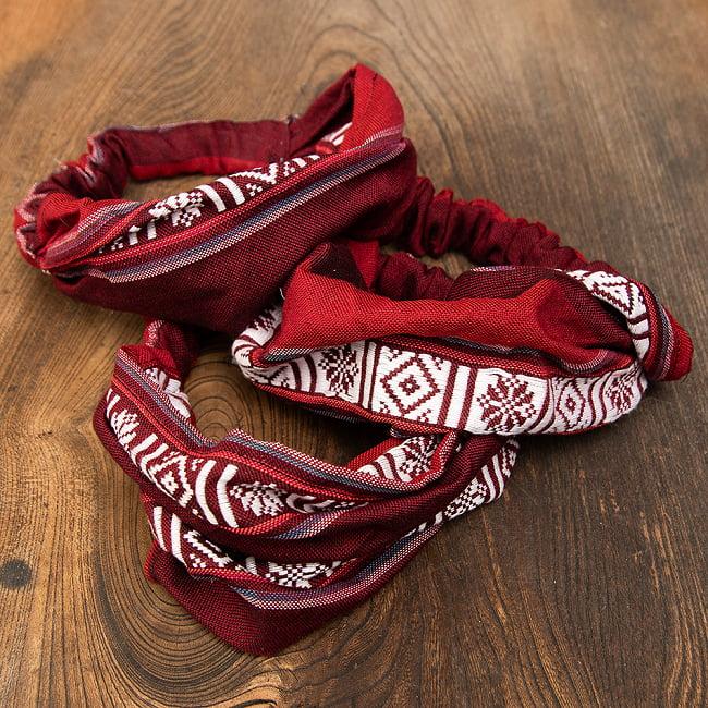 ターイ族の手作りカラフルヘアバンド【1点アソート】 11 - デザイン3