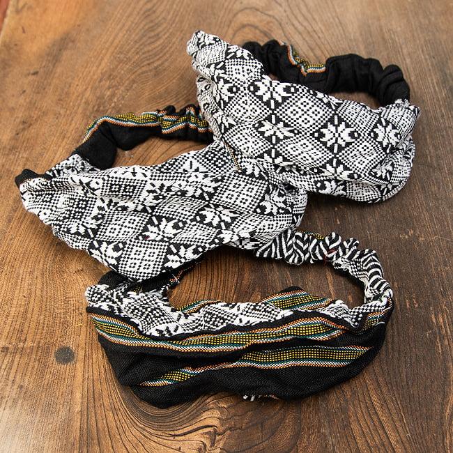 ターイ族の手作りカラフルヘアバンド【1点アソート】 12 - デザイン4