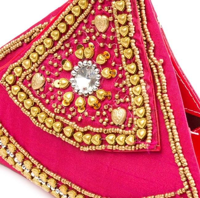 マハラーニ風のクラッチバッグ - ピンク 2 - 拡大写真です
