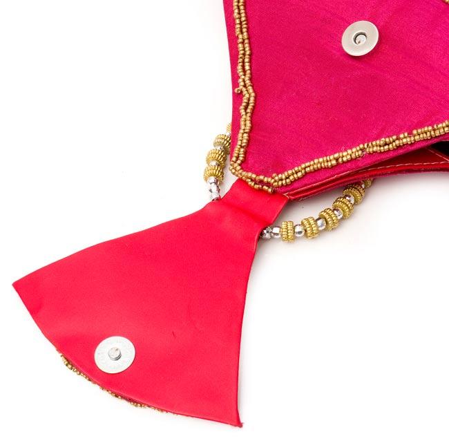 マハラーニ風のクラッチバッグ - ピンク 3 - マグネットで止めます