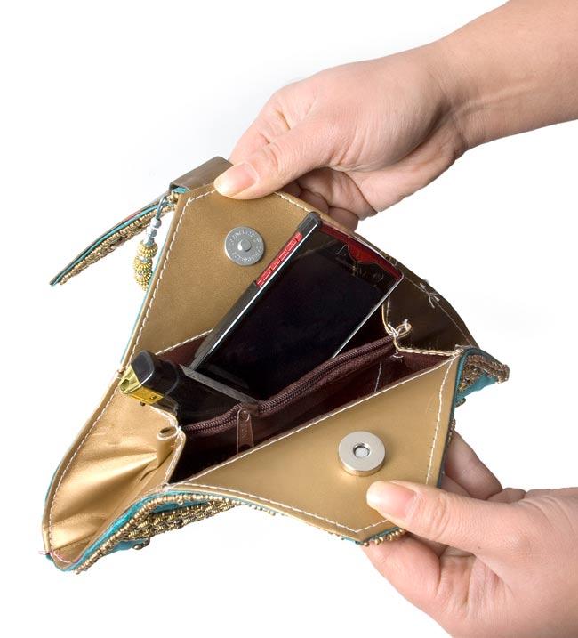 マハラーニ風のクラッチバッグ - ピンク 6 - 携帯とライターと小銭程度が入ります