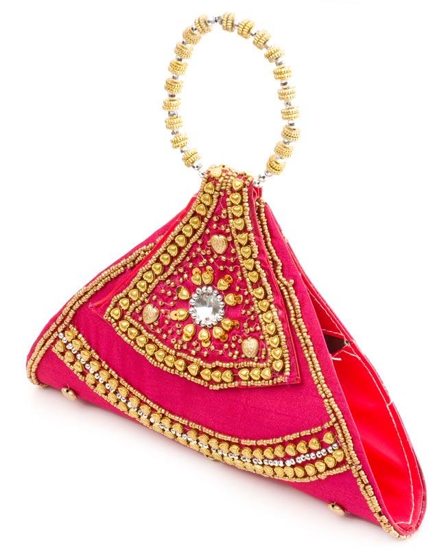 マハラーニ風のクラッチバッグ - ピンクの写真