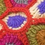 お花の手編みポーチ 【レッド】