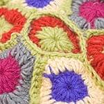 お花の手編みポーチ 【ライトグリーン】