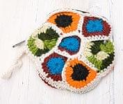 お花の手編みポーチ 【ホワイト】
