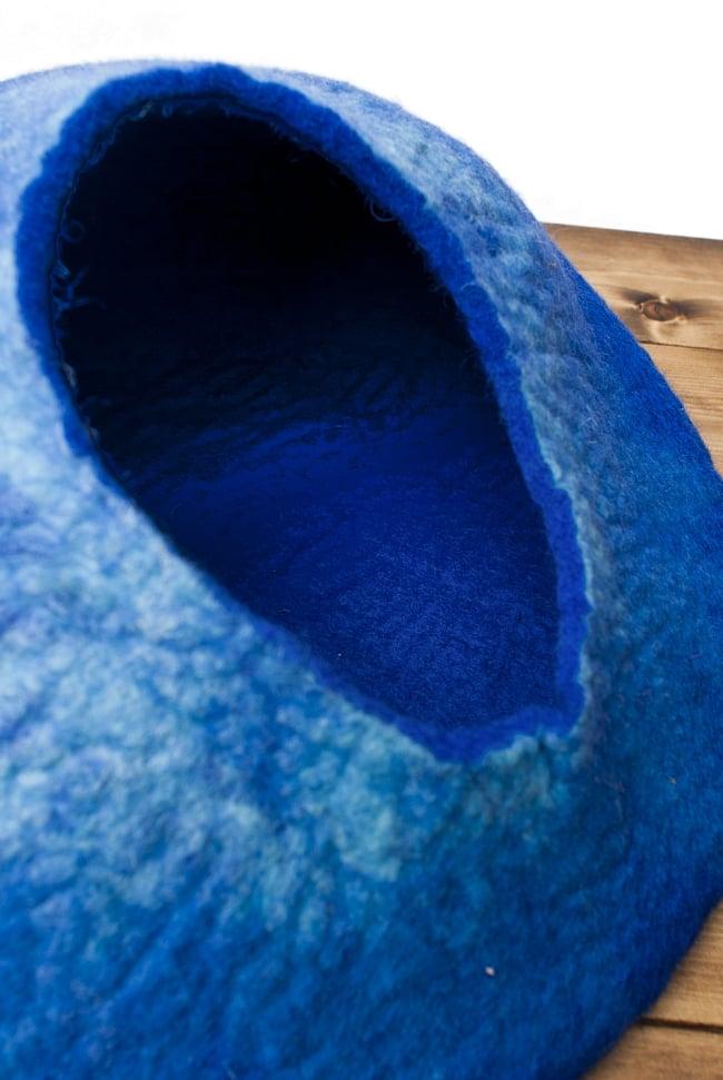 ネパールフェルトのキャットハウス ブルーの写真5 - 内部の様子です。