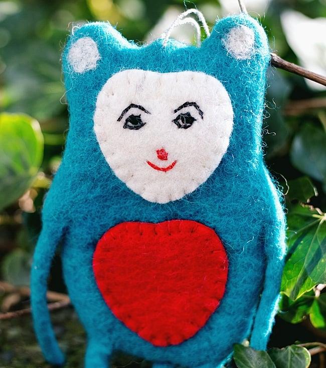 大きな愛の持ち主ネズモン - ピンク 2 - 顔とお腹にはハートがついています!愛くるしい表情。(以下はブルーの写真です)