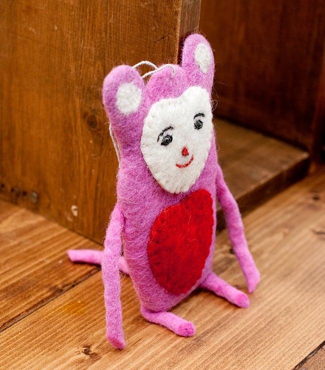 大きな愛の持ち主ネズモン - ピンク 4 - 横からの写真です