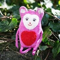 大きな愛の持ち主ネズモン - ピンクの商品写真