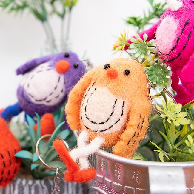 ネパールのもっちり鳥さん - ピンク 2 - くりくりお目々