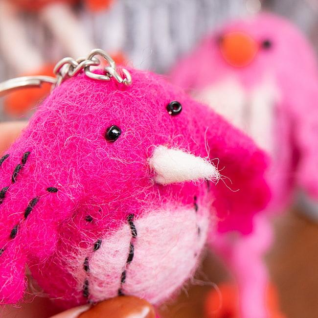 ネパールのもっちり鳥さん - ピンク 3 - 若干たくましさを感じます。