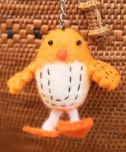 ネパールのもっちり鳥さん - オレンジの商品写真