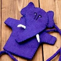 手作りフェルトガネーシャのスマホポーチ - 紫